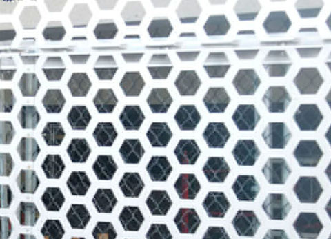 How will the Perforated Metal Panel change after spraying